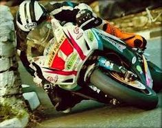 Michael Dunlop at the Southern 100 on the Isle of Man. How close is this?