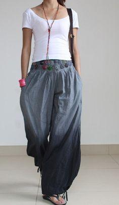 Gray Pants wide leg pants fashion skirt pants by fashiondress6