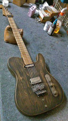Luxxtone Guitar Diy, Telecaster Guitar, Prs Guitar, Music Guitar, Cool Guitar, Unique Guitars, Custom Guitars, Vintage Guitars, Cool Electric Guitars