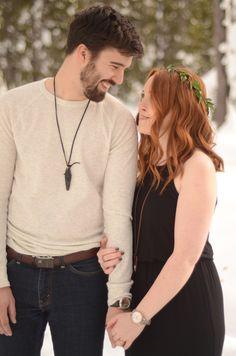 Snow Engagement | Bend, Oregon By: MacKenzie Brown Photography Floral Design: Forrette Fleurs