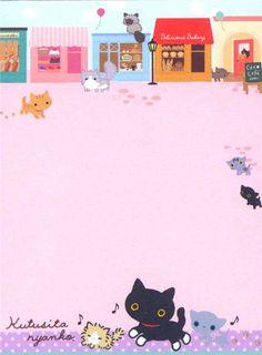 bunt-Kutusita-Nyanko-cat-flower-bread-mini-Note-Pad-178244-3.jpg (500×678)