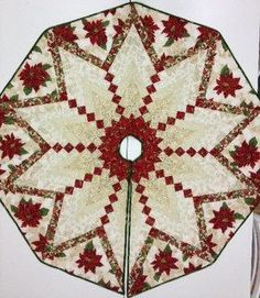 Pretty Paper Christmas Trees -- I want to make some for my tree. Xmas Tree Skirts, Diy Christmas Tree Skirt, Christmas Tree Skirts Patterns, Christmas Crochet Patterns, Christmas Sewing, Christmas Projects, Christmas Bells, Christmas Quilting, Crochet Ornaments
