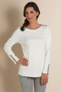 Castine Button Trim Tee from Soft Surroundings