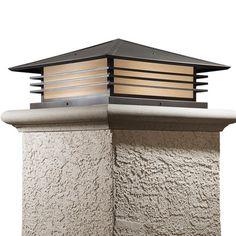 America's Finest Lighting Company Mariposa 1 Light LED Pier Mount Light Shade Finish: Honey, Finish: Textured Black
