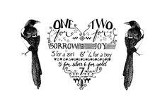 Magpie tattoo design