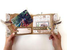 Square Tag&Pocket Travel Album Safari Adventure Tutorial by Marina…