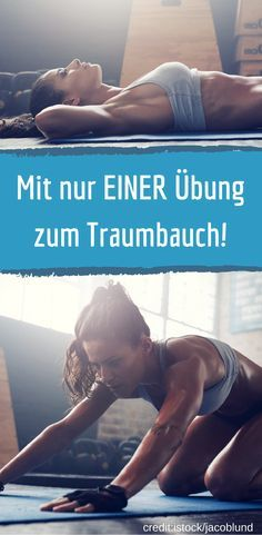 Abdominal training for Lazy: With an exercise to flat stomach- Bauchtraining für Faule: Mit einer Übung zum flachen Bauch With only one exercise to the dream belly. Fitness Workouts, Fitness Motivation, Pilates Workout, Fitness Diet, Yoga Fitness, Health Fitness, Cardio Yoga, Strength Training For Beginners, Strength Training Workouts