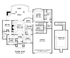 Basement Floor Plan of The Runnymeade - House Plan Number 1164 this house for Joseph  1583 square feet
