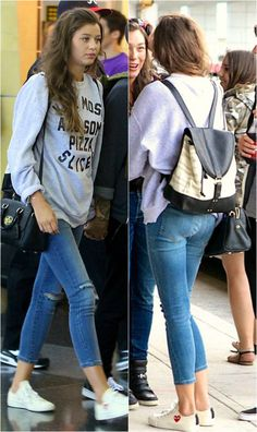 Eleanor Calder / NYC Airport / 27-08-13<<< how does she look that good at a fricking airport I am so done.