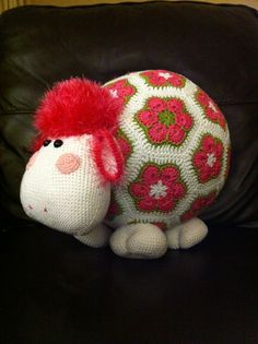 Crochet sheep, pattern purchased from amigurumipatterns.net.  Absolutely loved making it, but it ended up much bigger than I thought!