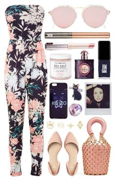 """Untitled #1082"" by clary94 ❤ liked on Polyvore featuring Miss Selfridge, Christian Dior, Staud, Urban Decay, JINsoon, VitaminSea.beauty, Yves Saint Laurent, Polaroid, Luna and Kenzo"