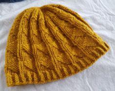 Yellow Knit Hat #Knit #KnitHat #Winter #MustardYellow #Yellow #Handmade #MadeInMichigan