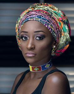 African print African Fashion, African Wear, African Style, African Beauty, Afro, Brown Skin Girls, Some Girls, Headband Hairstyles, Beautiful Black Women