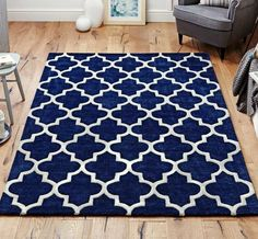 Arabesque Blue Rugs | Modern Rugs