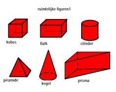 ruimtelijke figuren Cube, School, Schools