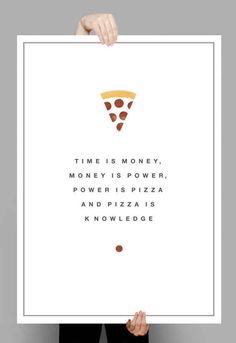 """""""Pizza Is Knowledge"""" Print"""
