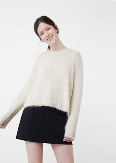 Fluffy sweater | MANGO