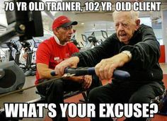 Age is just a number! The elderly can be fit and healthy #exercise