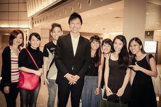 Photo with some members after church service yesterday :)