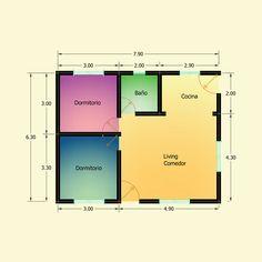 Planos de 2 Dormitorios – Constructora Sol del Plata Bungalows, Bar Chart, Desktop Screenshot, Architecture, Ideas, Home Made Simple, Sun, Manufactured Housing, Galaxy Art
