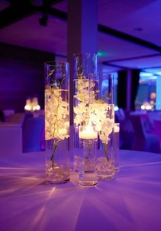 Floating Candle Arrangements | floating candle centerpiece | BBD- Erin Board