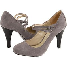 Gabriella Rocha Dancy  Grey Suede Pumps