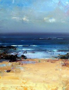 Knight's paintings reflect his fascination with landscape. He is one of the few Australian artists today who is still committed to painting en plein air . While his style could best be described as representational, it is his unique way of applying paint and capturing light that continues to draw … #OilPaintingSeascape