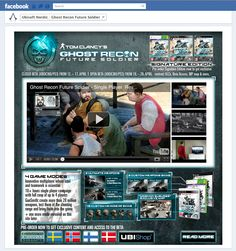 Design of a Facebook fan-page for the Ubisoft game Ghost Recon Future Soldier