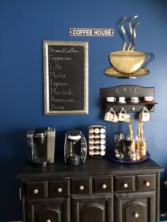 My coffee station./ Coffee stations in kitchen