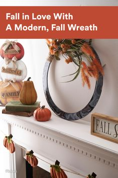 Fall in love with a modern fall wreath! It's the perfect base to feature the trendy art of paint pouring.