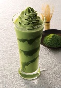 Sweet Recipes, Real Food Recipes, Dessert Recipes, Yummy Food, Desserts, Green Tea Dessert, Green Tea Drinks, Milk Shakes, Japan Dessert