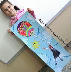 art ideas art stuff artwork 3.grade  sanat etkinlikleri 3.sınıf görsel sanatlar balon baloon flying