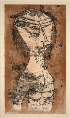 Saint of Inner Light (Die Heilige vom Innern Licht) 1921 Klee Color lithograph DMA