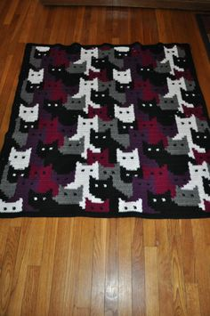 Colorwork with Cats - Crochet creation by Transitoria - woahhhhh