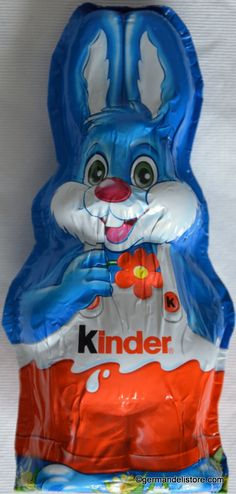 """What would Easter be without the funny Chocolate Easter Bunny """"Harry Hase"""" from """"Ferrero Kinder Schokolade"""". Adults and children can not wait to unpack the delicious Easter Bunny made from whole milk chocolate with a layer of delicate. Funny Eggs, Chocolate Humor, Hazelnut Praline, Fruit Gums, Chocolate Easter Bunny, Easter Candy, Mixed Drinks, The Funny, Milk"""