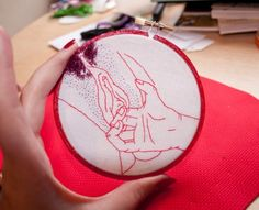 Siobh�n Barbour - fingering hand embroidery