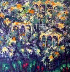 "Saatchi Art Artist Concha Flores Vay; Painting, ""EL JARDIN ESTA HERMOSO"" #art"