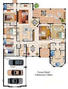 Floor plan sims house, building plans, building a house, 4 bedroom house plans Dream House Plans, New House Plans, House Floor Plans, My Dream Home, Building Plans, Building A House, Future House, My House, Ideal House