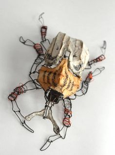 Wire and paper beetle. Joel Armstrong
