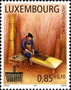 Sello: Basketmaker (Luxemburgo) (Trades of Yesteryear) Mi:LU 1890,Sn:LU B472,Yt:LU 1834,Sg:LU 1907,WAD:LU044.10