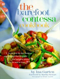 The Barefoot Contessa Cookbook. For more than twenty years, Barefoot Contessa, the acclaimed specialty food store, has been cooking and baking extraordinary dishes for enthusiastic customers in the Hamptons. Barefoot Contessa, Ina Garten Cookbooks, Best Cookbooks, Vintage Cookbooks, Granola, Chefs, My Cookbook, Cookbook Shelf, Cookbook Design