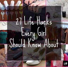 Life Hacks Every Girl Should Know! #Fashion #Beauty #Trusper #Tip