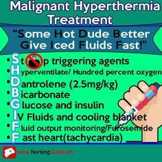 Malignant Hyperthermia by Celia Nursing Schools Near Me, Online Nursing Schools, Nursing School Tips, Nursing Tips, Nursing Notes, Nursing Programs, Nursing Classes, Lpn Programs, Malignant Hyperthermia