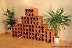 #Weinlagersteine Massiv im Verlegebeispiel B