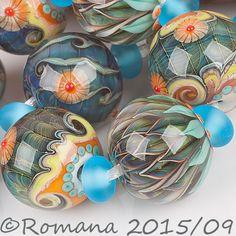 """Romana Lampwork Beads - """"Celtic garden""""  #LampworkBeads"""