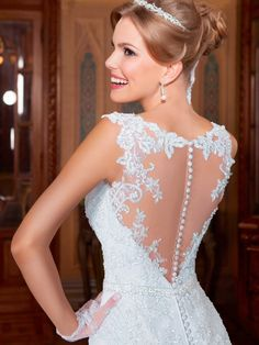 Appliques Sash Beaded Mermaid Wedding Dress