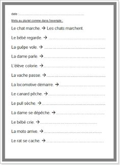 French Education, French Lessons, Teaching French, French Language, Activities, French Nails, Word Reading, Plural Of Nouns, Teaching French Immersion