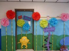 dr seuss classroom door decorating