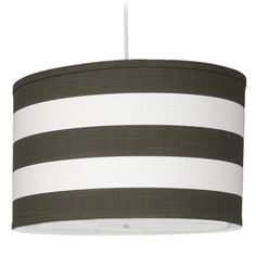 striped drum shade w. diffuser - simple but effective Upstairs Bedroom, Blue Rooms, Baby Boy Rooms, Baby Online, Baby Boutique, Drum Shade, Home Lighting, Pendant Lamp, My Dream Home