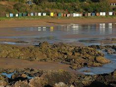Coldingham Bay - I do like a beach hut Scotland Holidays, Beach Huts, Edinburgh, Cos, Golf Courses, Living Spaces, Heaven, Earth, Landscape